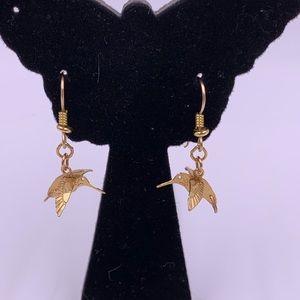 Adorable hummingbird earrings